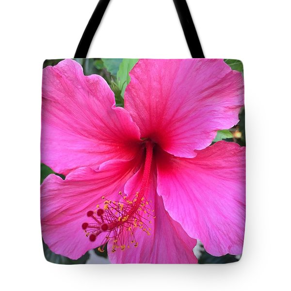 Hot Pink Hibiscus  Tote Bag by Russell Keating
