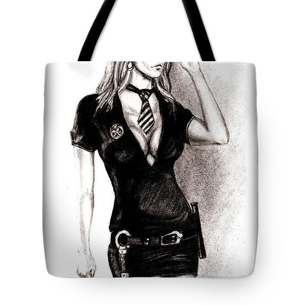 hot Police unifome Tote Bag