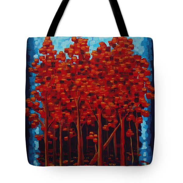 Hot Reds Tote Bag by Holly Carmichael