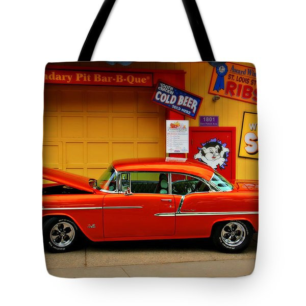 Hot Rod Bbq Tote Bag