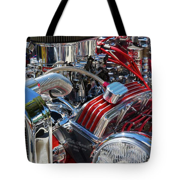 Hot Rod Engine Tote Bag
