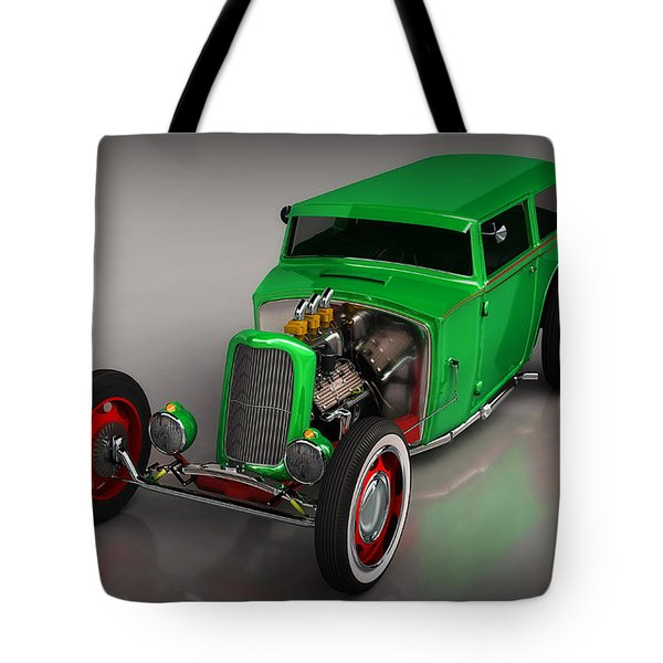 Hot Rod Sedan Tote Bag