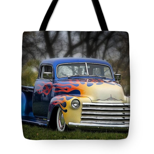 Hot Rod Truck Tote Bag