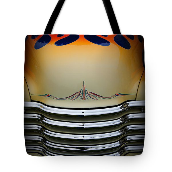 Hot Rod Truck Hood Tote Bag