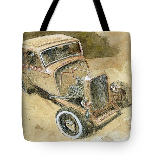 Hot Rod Tudor Tote Bag
