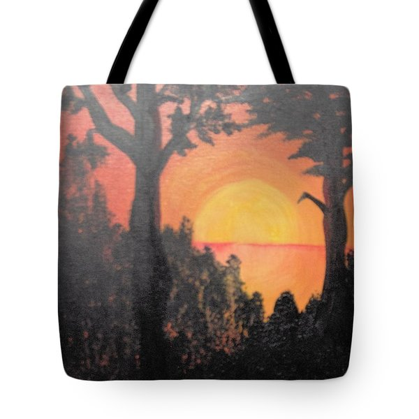 Tote Bag featuring the painting Hot by Saundra Johnson