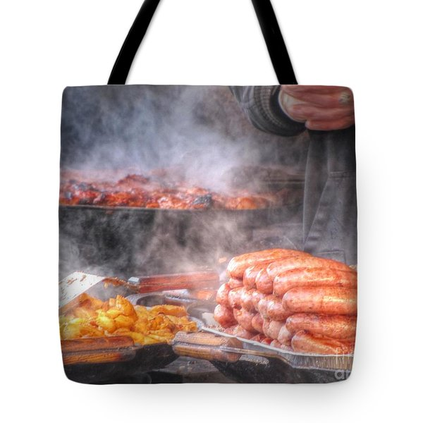 Hot Sausage Hot Dog Tote Bag by Yury Bashkin