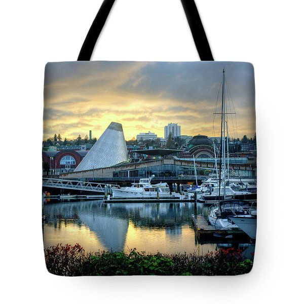 Hot Shop Cone Cloudy Twilight Tote Bag by Chris Anderson