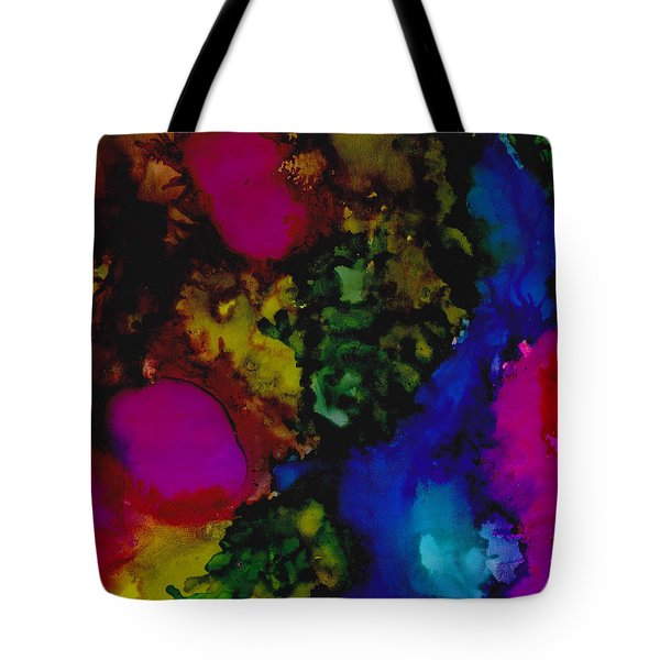 Tote Bag featuring the painting Hot Spots by Angela Treat Lyon