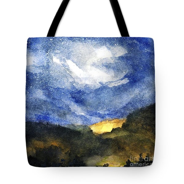 Hot Spots In Our Mountains Tonight Tote Bag by Randy Sprout