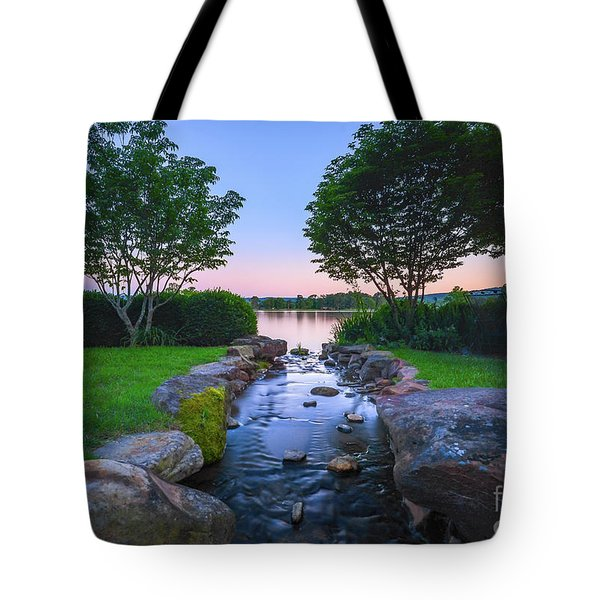 Hot Spring Water Flow Tote Bag
