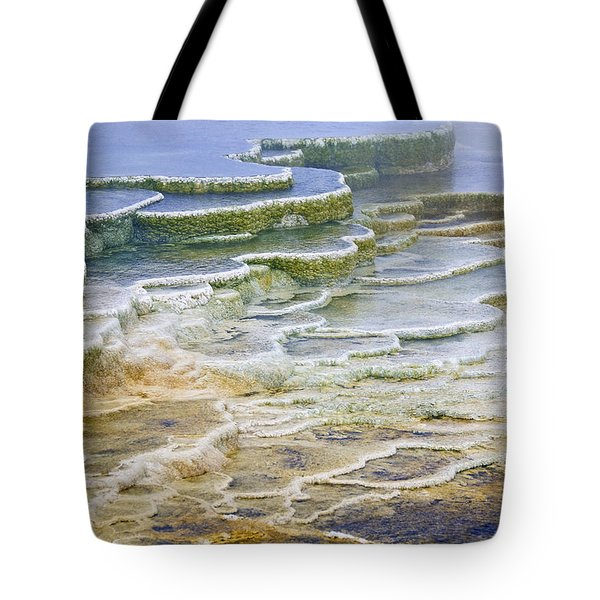 Tote Bag featuring the photograph Hot Springs Runoff by Gary Lengyel