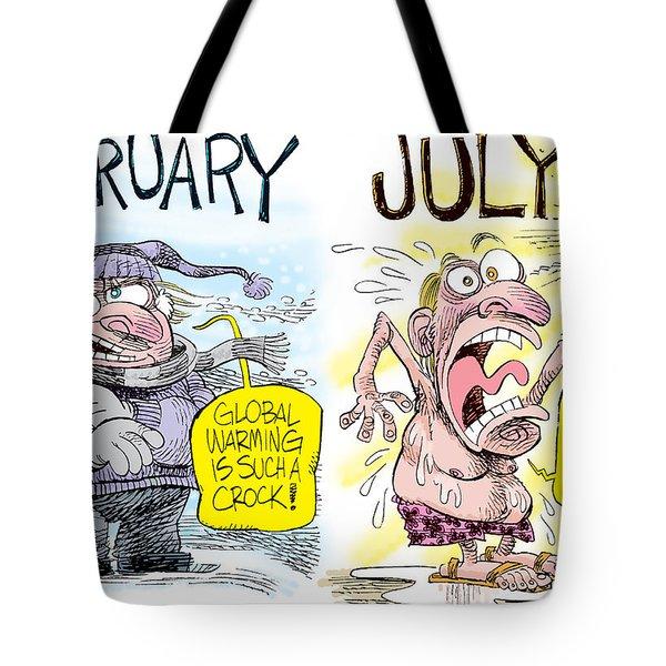Hot Summer Global Warming Tote Bag