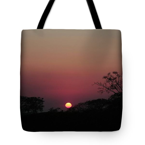 Tote Bag featuring the photograph Hot Tropical Sunset by Ellen Barron O'Reilly