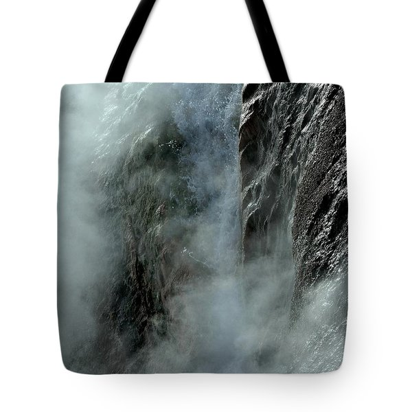 Hot Water Into Cold Makes Steam Tote Bag