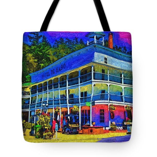 Tote Bag featuring the digital art Hotel De Haro by Kirt Tisdale