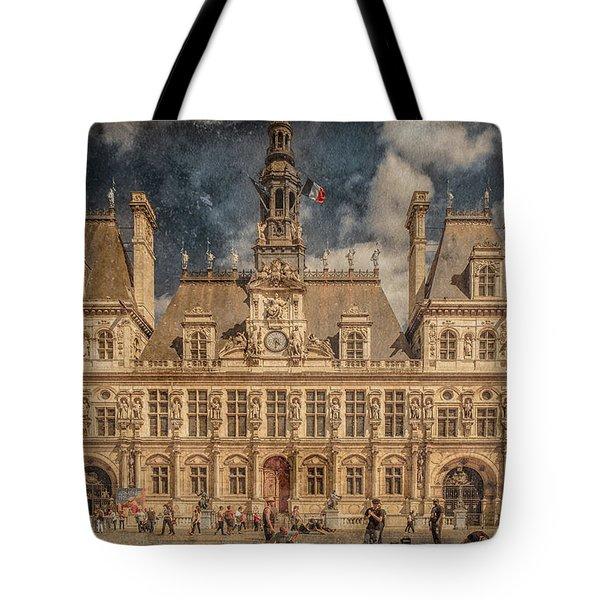 Paris, France - Hotel De Ville Tote Bag