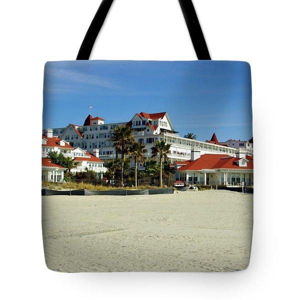 Hotel Del Coronado Beach Tote Bag