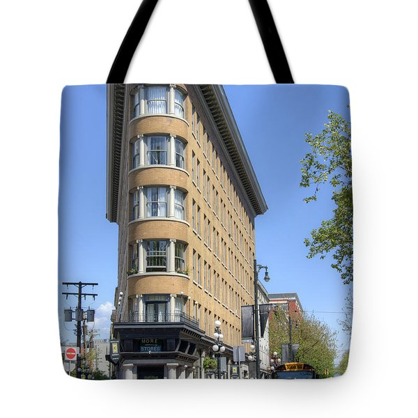 Tote Bag featuring the photograph Hotel Europe In Vancouver by David Birchall