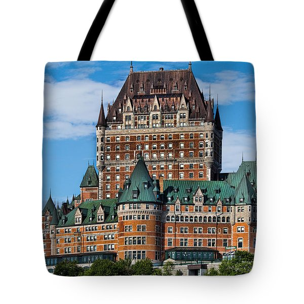 Chateau Frontenac In Quebec City Tote Bag