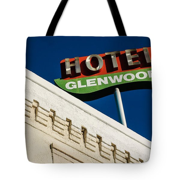 Hotel Glenwood Tucson Arizona By Gene Martin Tote Bag
