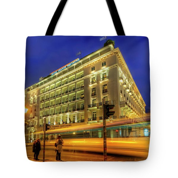 Tote Bag featuring the photograph Hotel Grande Bretagne - Athens by Yhun Suarez