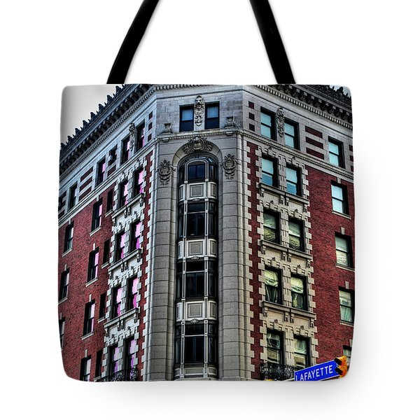 Hotel Lafayette Series 0003 Tote Bag by Michael Frank Jr