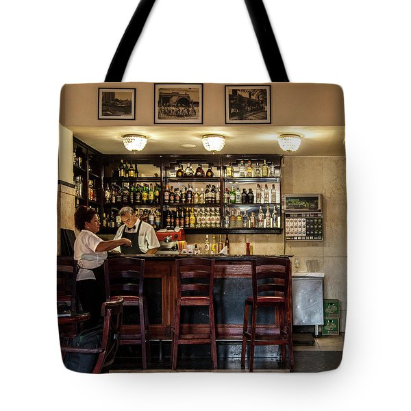 Tote Bag featuring the photograph Hotel Presidente Bar Havana Cuba by Charles Harden
