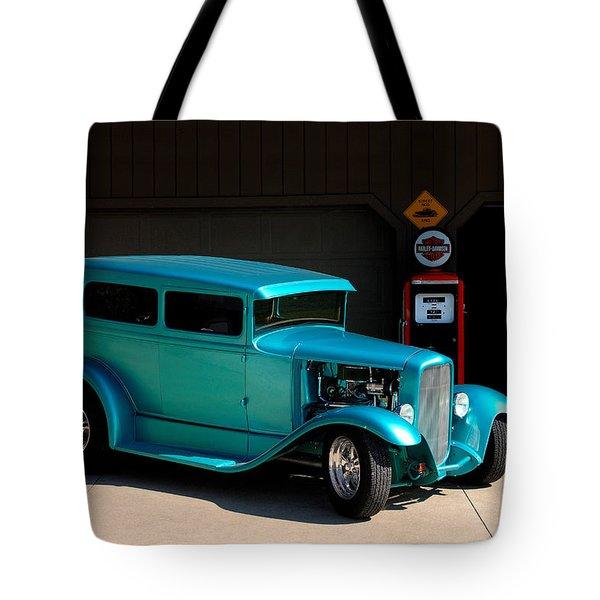 Hotrod Car Tote Bag