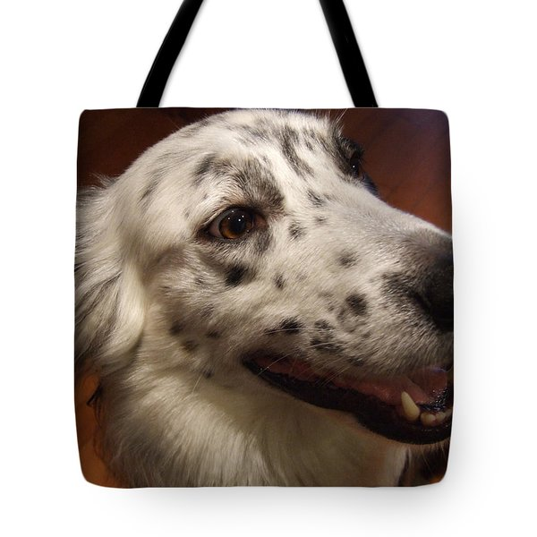 Tote Bag featuring the photograph 'houlie' by Mark Alan Perry