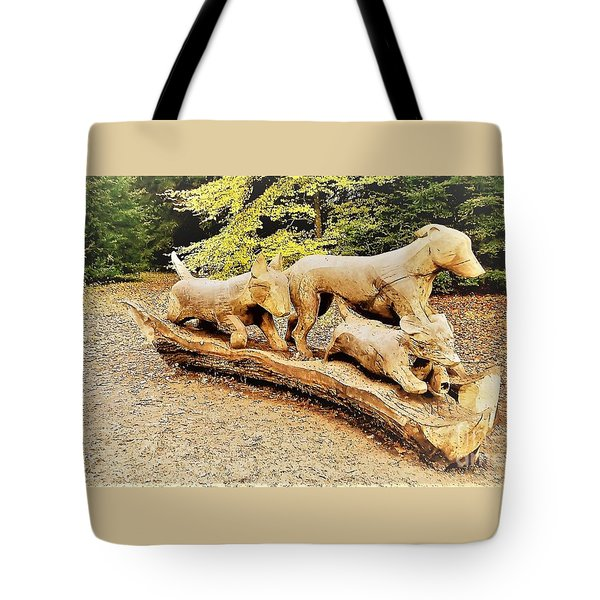 Hounds On The Run Tote Bag