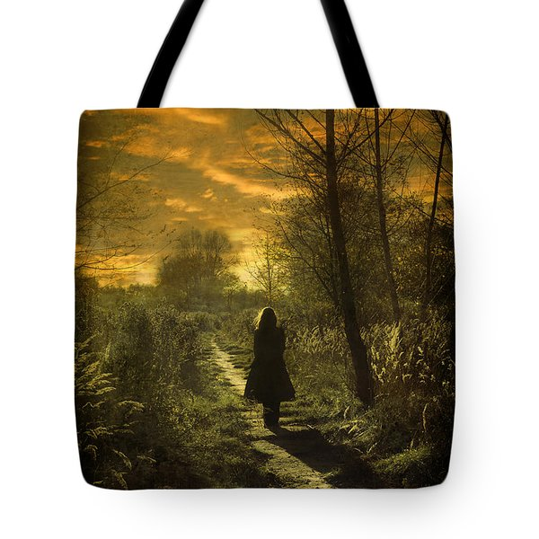 Hour Of Long Shadows Tote Bag