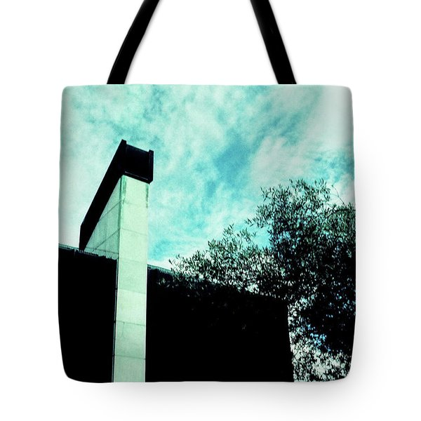 House And Sky Tote Bag