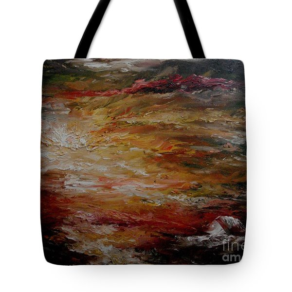 Tote Bag featuring the painting House By The Sea by Rushan Ruzaick