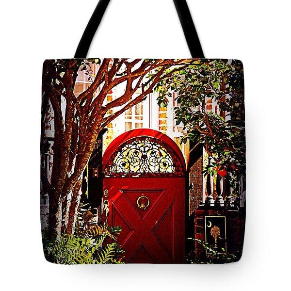 House Door 5 In Charleston Sc  Tote Bag