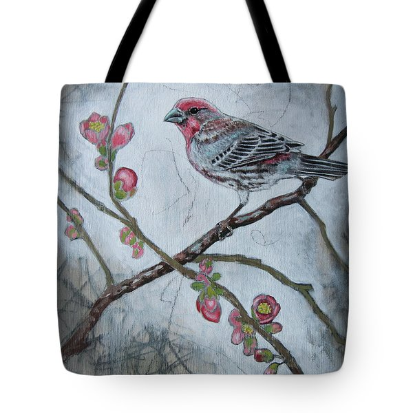 House Finch Tote Bag by Sheri Howe