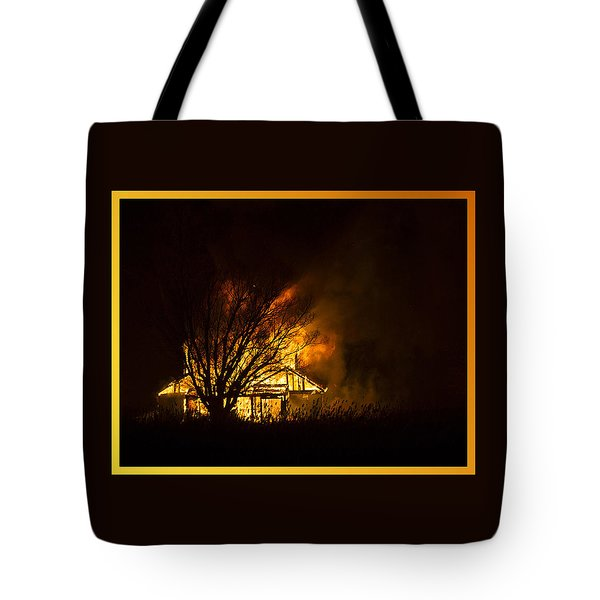 House Fire Tote Bag