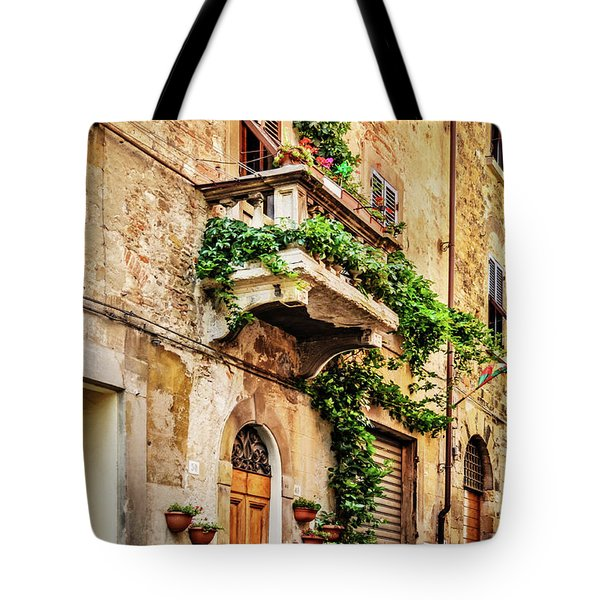 Tote Bag featuring the photograph House In Arezzoo, Italy by Marion McCristall