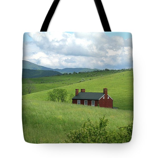 House In The Hills Tote Bag