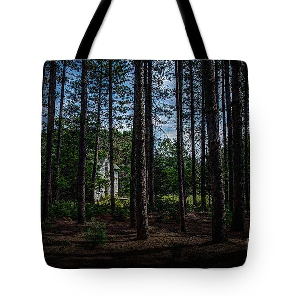 House In The Pines Tote Bag