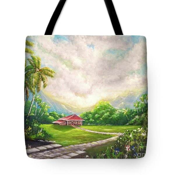 House In The Valley Tote Bag