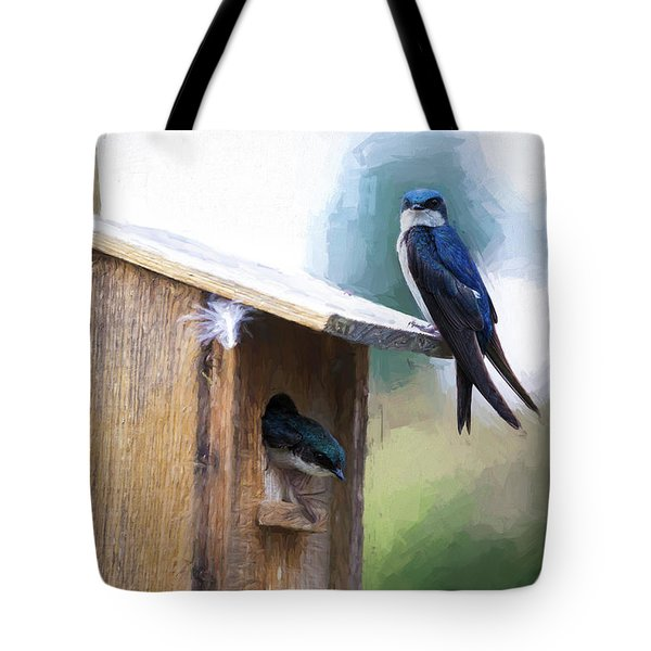Tote Bag featuring the photograph House Of Bluebirds by James BO Insogna