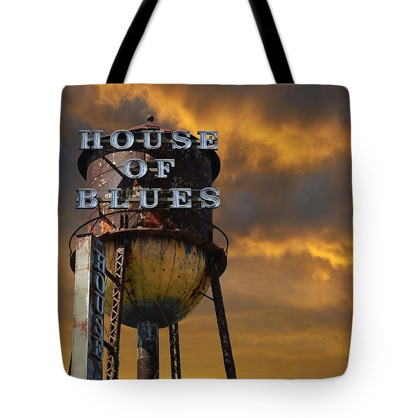 Tote Bag featuring the photograph House Of Blues  by Laura Fasulo