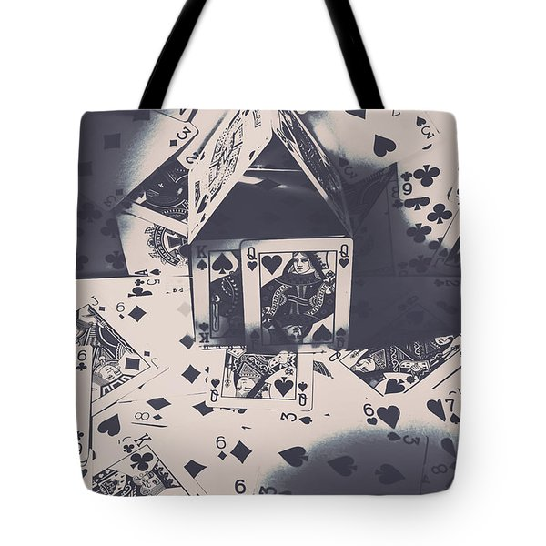 Tote Bag featuring the photograph House Of Cards by Jorgo Photography - Wall Art Gallery