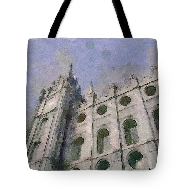 Tote Bag featuring the painting House Of Faith by Greg Collins