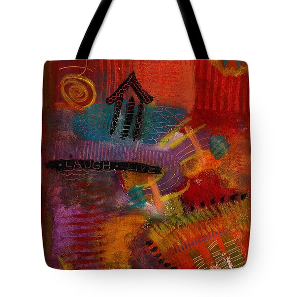 House Of Laughter Tote Bag by Angela L Walker