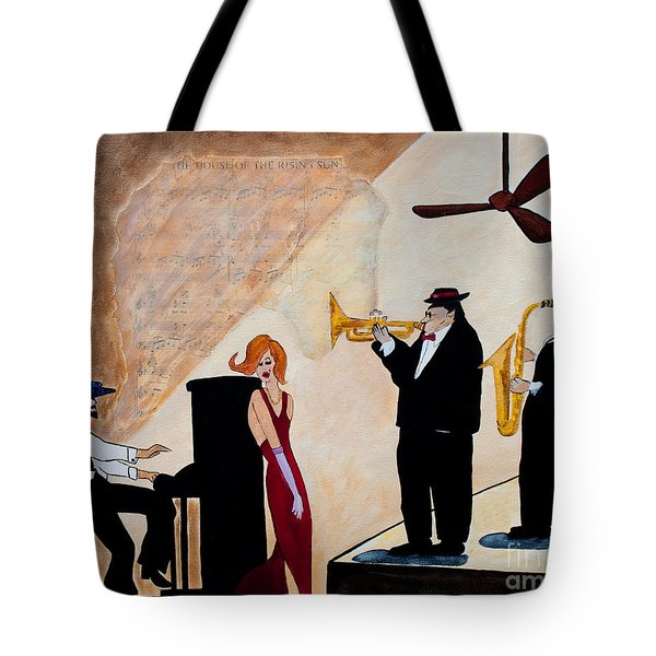 Tote Bag featuring the painting House Of The Rising Sun by Barbara McMahon