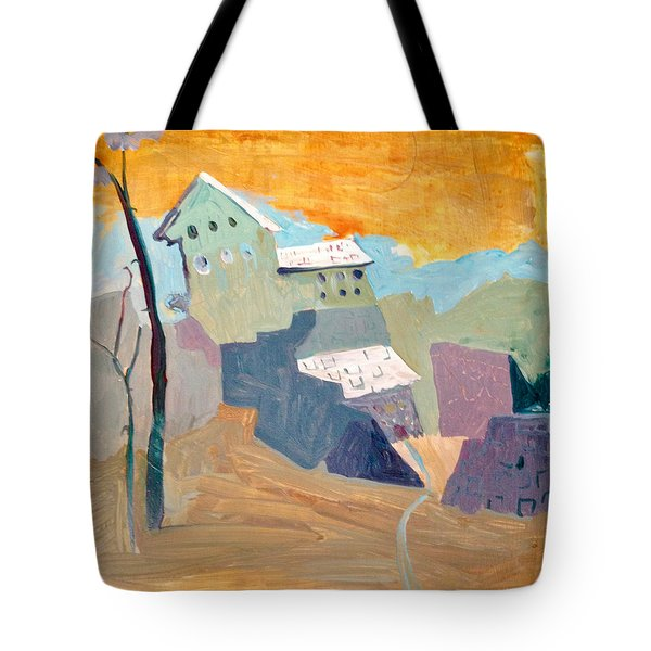 House On A Hill Tote Bag
