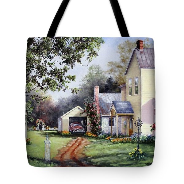 House On Bird Street Tote Bag