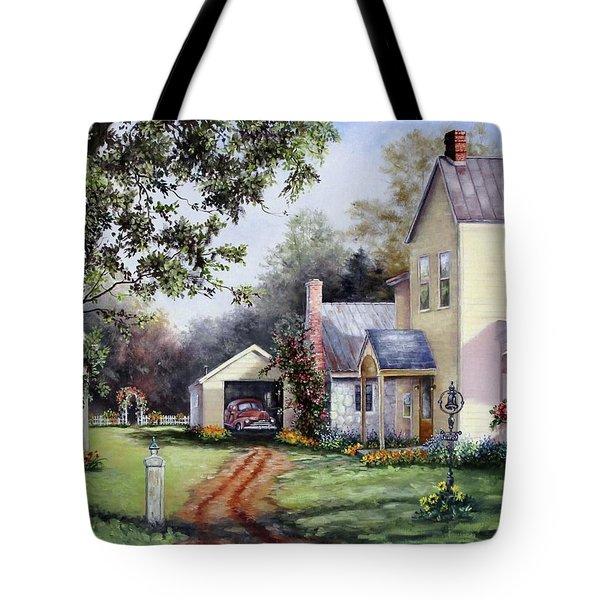 House On Bird Street Tote Bag
